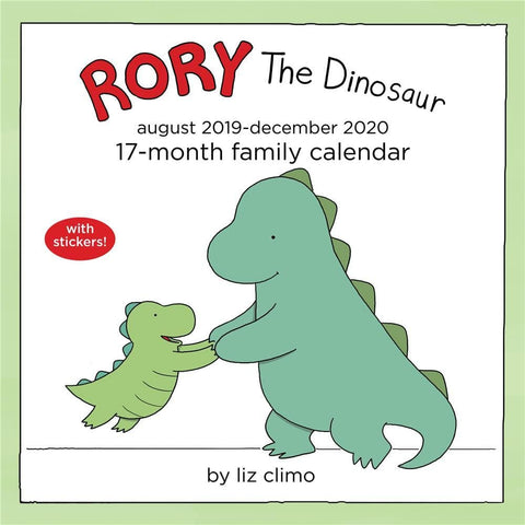 Rory the Dinosaur Family 2020 Wall Calendar Front Cover