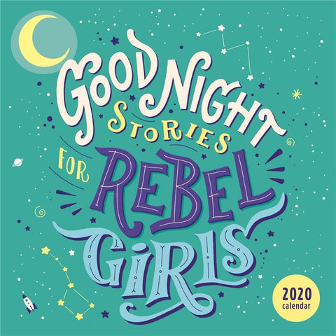 Good Night Stories for Rebel Girls 2020 Wall Calendar Front Cover