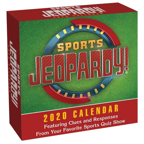 Sports Jeopardy 2020 Box Calendar Front Cover