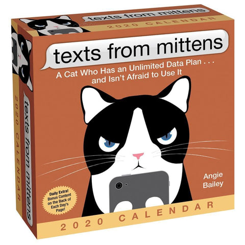 Texts from Mittens the Cat 2020 Box Calendar Front Cover