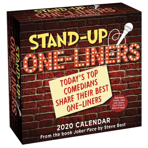 Stand Up One liners 2020 Box Calendar Front Cover