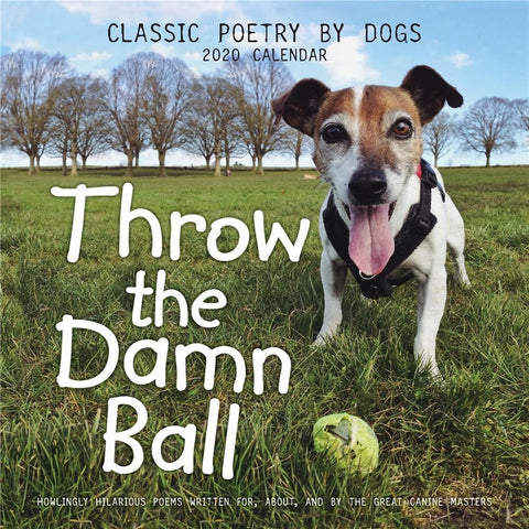 Throw the Damn Ball 2020 Wall Calendar Front Cover