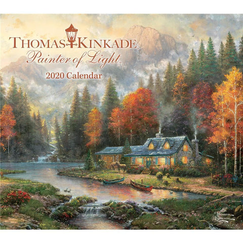 Thomas Kinkade Painter of Light 2020 Deluxe Wall Calendar Front Cover