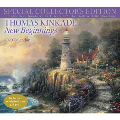 Thomas Kinkade 2020 Special Collectors Edition Deluxe Wall Calendar Front Cover