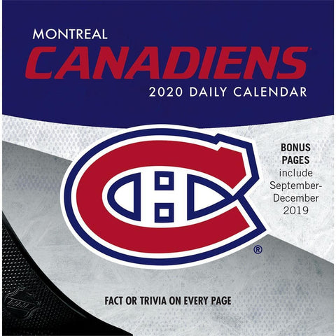 NHL Montreal Canadiens 2020 Box Calendar