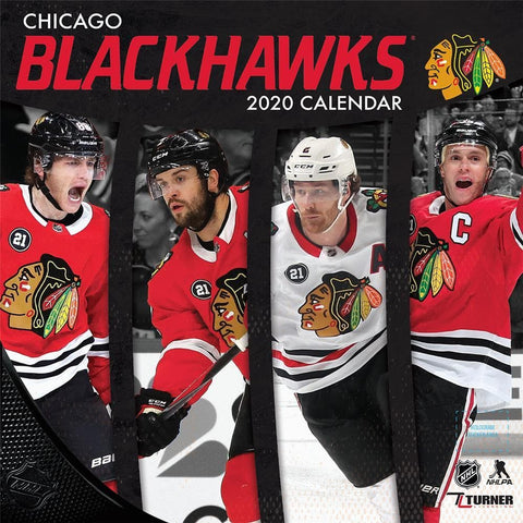 NHL Chicago Blackhawks 2020 Mini Calendar Front Cover