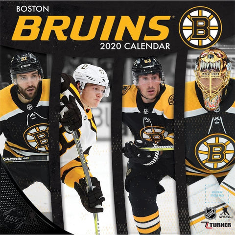 NHL Boston Bruins 2020 Wall Calendar Front Cover