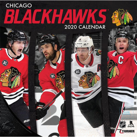 NHL Chicago Blackhawks 2020 Wall Calendar Front Cover