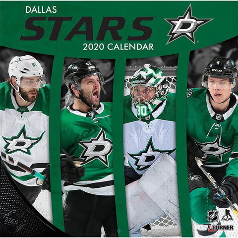 NHL Dallas Stars 2020 Wall Calendar - Online Exclusive Front Cover