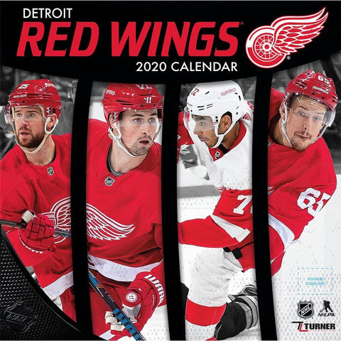 NHL Detroit Red Wings 2020 Wall Calendar Front Cover