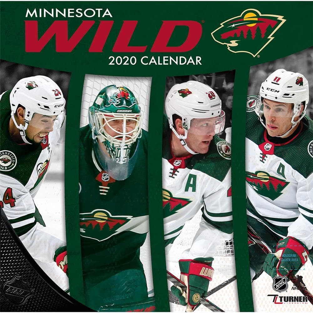 sports shoes df6d3 2587d NHL Minnesota Wild 2020 Wall Calendar - Online Exclusive