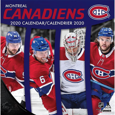 NHL Montreal Canadiens Bilingual 2020 Wall Calendar Front Cover