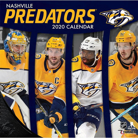NHL Nashville Predators 2020 Wall Calendar - Online Exclusive Front Cover