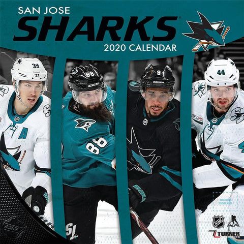 NHL San Jose Sharks 2020 Wall Calendar - Online Exclusive Front Cover