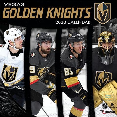 NHL Vegas Golden Knights 2020 Wall Calendar - Online Exclusive Front Cover