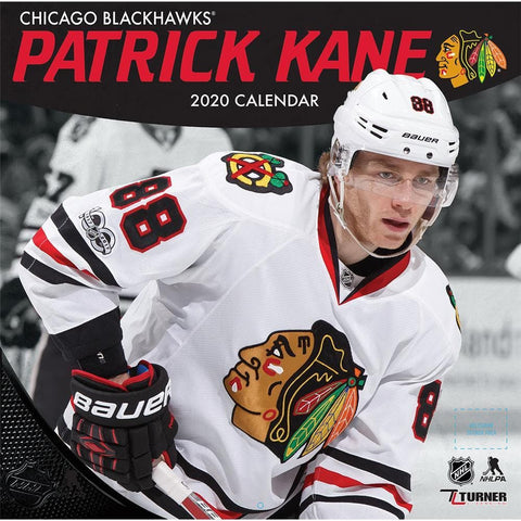 NHL Chicago Blackhawks Patrick Kane 2020 Wall Calendar Front Cover