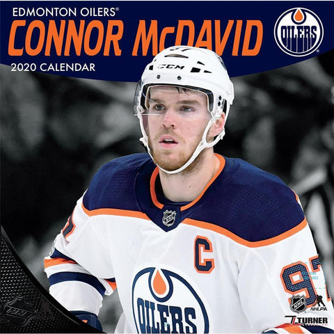NHL Edmonton Oilers Connor McDavid 2020 Wall Calendar Front Cover
