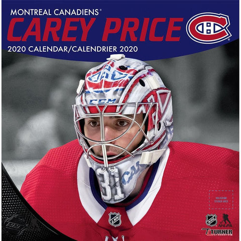 NHL Montreal Canadiens Carey Price Bilingual 2020 Wall Calendar Front Cover