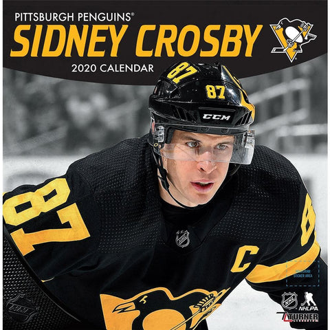 NHL Pittsburgh Penguins Sidney Crosby 2020 Wall Calendar Front Cover