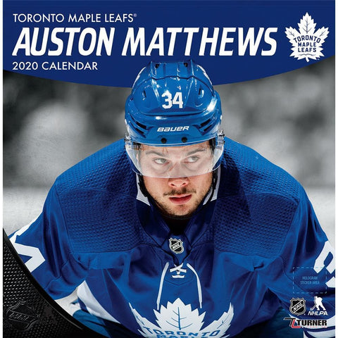 NHL Toronto Maple Leafs Auston Matthews 2020 Wall Calendar Front Cover