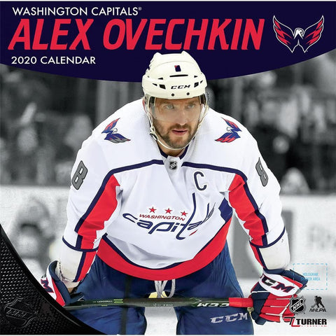 NHL Washington Capitals Alex Ovechkin 2020 Wall Calendar Front Cover