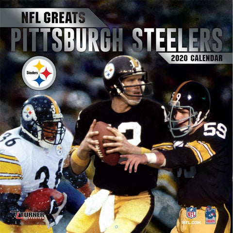 6055d03c072 NFL Greats Pittsburgh Steelers 2020 Wall Calendar - Online Exclusive Front  Cover
