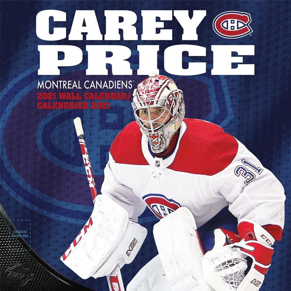 Nhl Montreal Canadiens Carey Price 2021 Bilingual Wall Calendar By The Lang Companies Inc