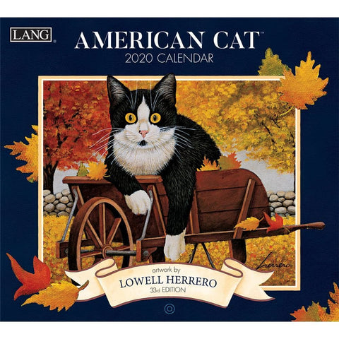 American Cat 2020 Wall Calendar Front Cover