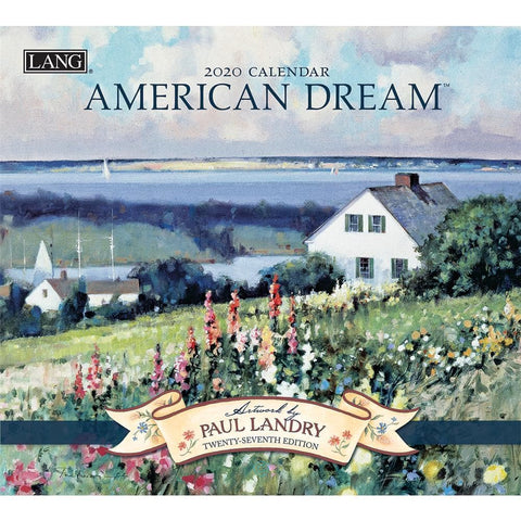 American Dream 2020 Wall Calendar Front Cover