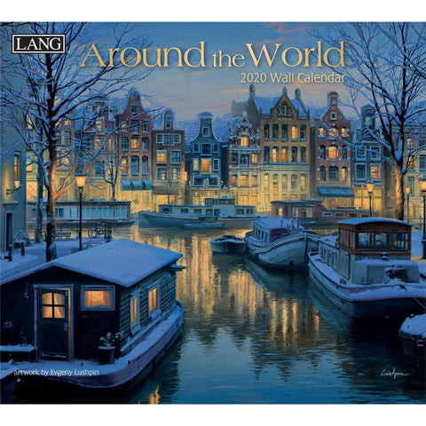 Around The World 2020 Wall Calendar Front Cover