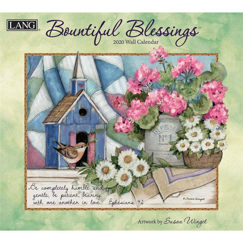 Bountiful Blessings 2020 Wall Calendar Front Cover