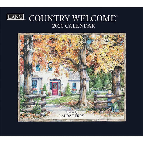 Country Welcome 2020 Wall Calendar Front Cover