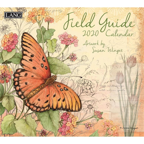 Field Guide Winget 2020 Wall Calendar Front Cover