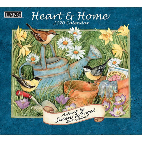 Heart and Home 2020 Wall Calendar Front Cover