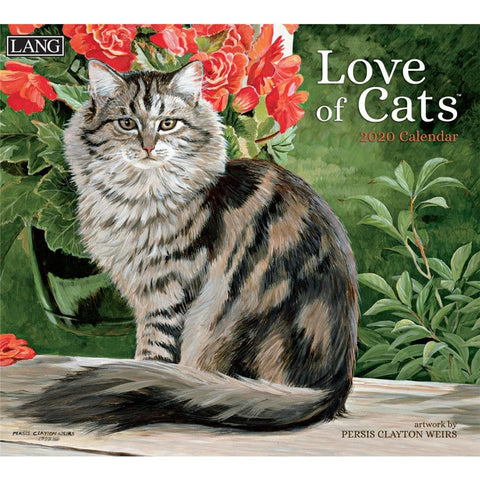 Cats Love of Weirs Art 2020 Wall Calendar Front Cover