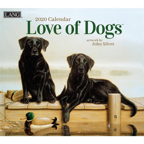 Dogs Love of Art 2020 Wall Calendar Front Cover