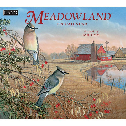 Meadowland 2020 Wall Calendar Front Cover