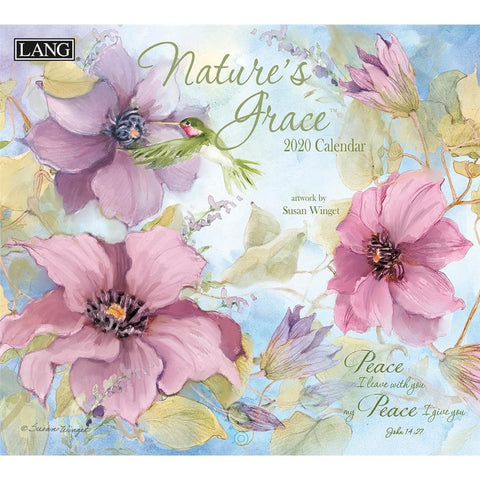 Natures Grace 2020 Wall Calendar Front Cover