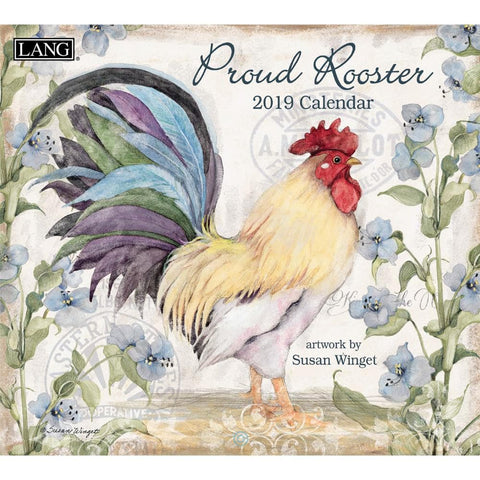 Proud Rooster 2020 Wall Calendar Front Cover