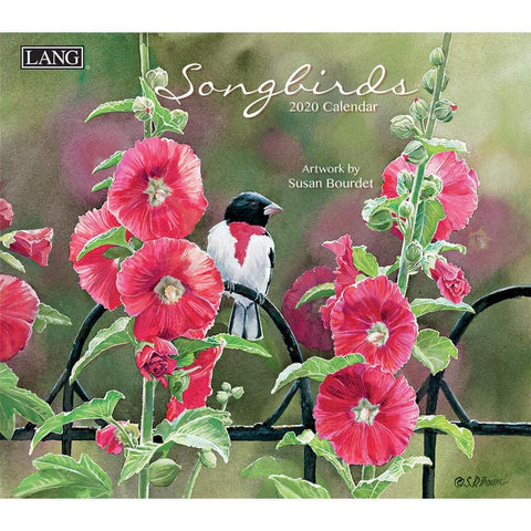 Songbirds 2020 Wall Calendar Front Cover