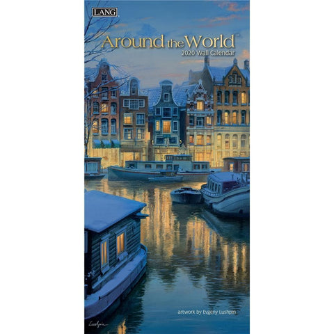 Around the World 2020 Slim Calendar Front Cover