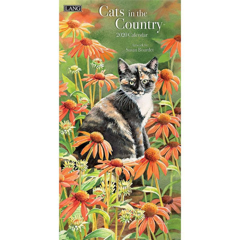 Cats in the Country 2020 Slim Calendar Front Cover