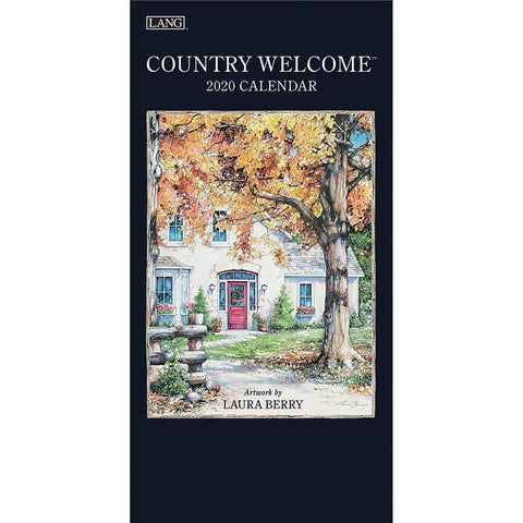 Country Welcome 2020 Slim Calendar Front Cover