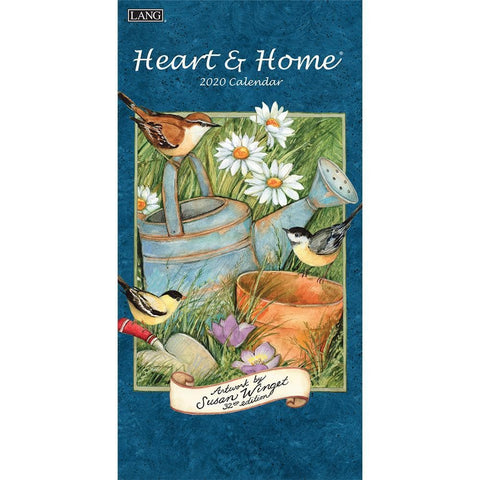 Heart and Home 2020 Slim Calendar Front Cover