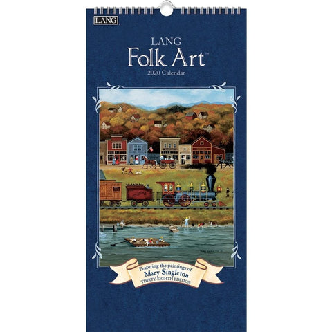 Lang Folk Art 2020 Slim Calendar Front Cover