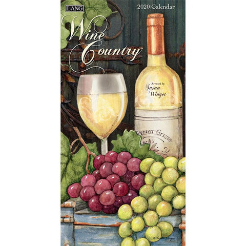 Wine Country 2020 Slim Calendar Front Cover