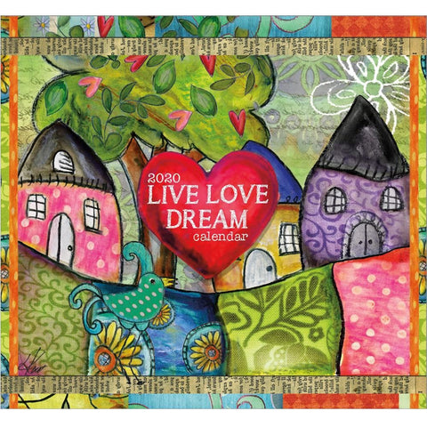 Live Love Dream 2020 Small Box Calendar Front Cover