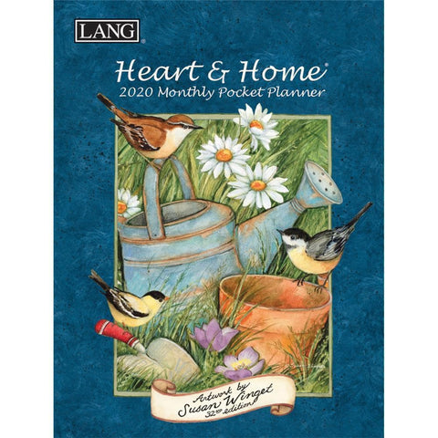 Heart and Home 2020 Monthly Pocket Planner Front Cover
