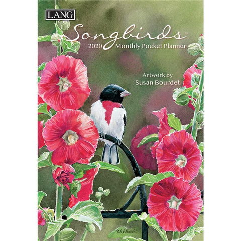 Songbirds 2020 Monthly Pocket Planner Front Cover