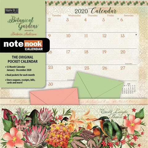 Botanical Garden Note Nook 2020 Wall Calendar Front Cover